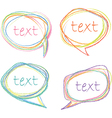 Sketch speech bubbles vector | Price: 1 Credit (USD $1)