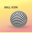 striped ball logo vector image vector image