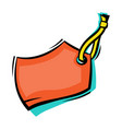 stylized of sticker tag image vector image