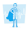 super male doctor vector image