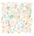 sweet pastel flower and leave seamless pattern vector image vector image