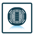 Tennis stadium aerial view icon vector image vector image