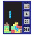 Tetris device interface vector image