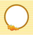 thanksgiving frame pumpkin style collection vector image vector image