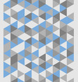 tile background blue and grey triangle pattern vector image