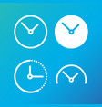 time concept linear symbols clock and watch line vector image vector image