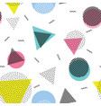 triangle circle abstract geometric seamless vector image vector image