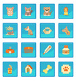 veterinary clinic items icon blue app vector image vector image