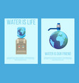 water earth globe save concept vector image vector image