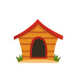 wooden house for dog on a vector image