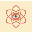 The model of a molecule atom Retro poster vector image