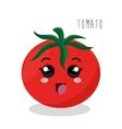 cartoon tomato food design isolated vector image
