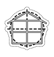 house construction plane isolated icon vector image