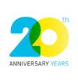 20 anniversary years logo vector image