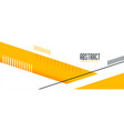 abstract yellow geometric banner in memphis style vector image vector image