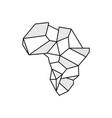 africa stone logo design vector image