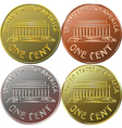 American gold money one cent coin vector image vector image