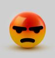angry mad emoji emoticon social media smiley vector image