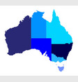 australia state silhouette vector image vector image