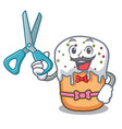 barber easter cake character cartoon vector image vector image