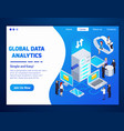 big data isometric design vector image vector image