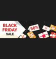 big sale black friday flyer special offer promo vector image