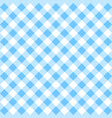 blue gingham pattern vector image