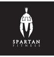 bodybuilder as part of the Spartan helmet concept vector image vector image