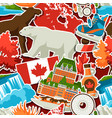 canada sticker seamless pattern vector image vector image