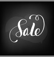 chalkboard blackboard lettering sale handwritten vector image vector image