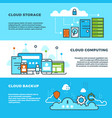 cloud computing solution data storage business vector image