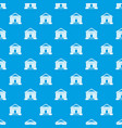 colonnade pattern seamless blue vector image vector image