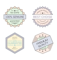 Colorful geometric minimal vintage badges vector image vector image