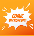 comic speech bubble burst on orange background vector image vector image