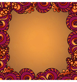 Decorative ornamental frame vector image vector image