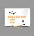 drawing halloween holidays vector image vector image