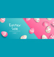 easter sale bright sweet fashion style pop art vector image