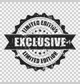 exclusive scratch grunge rubber stamp on isolated vector image