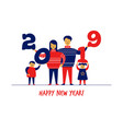 flat cartoon boygirlfamily charactersnew year vector image