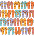 flip-flops seamless background vector image vector image