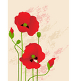 Floral background with red poppies vector | Price: 1 Credit (USD $1)