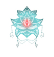 Flower Lotus Tattoo vector image vector image