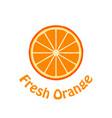 fresh orange slice flat icon vector image vector image