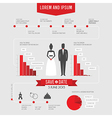 Funny infographics style wedding invitation vector image vector image