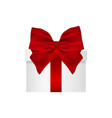 gift in a box with red bow on white backgrou vector image