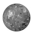 grey disco ball vector image