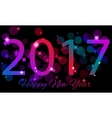 Happy New 2017 Year Seasons greetings colorful vector image vector image