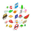 helvetian icons set isometric style vector image vector image