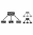 Hierarchy mosaic icon rough pieces