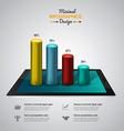 infographics with tablet vector image vector image
